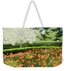 Weekender Tote Bag featuring the photograph Tulip Cafe by Diana Angstadt