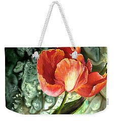 Weekender Tote Bag featuring the painting Tulip Dance by Sherry Shipley