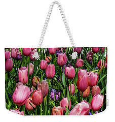 Weekender Tote Bag featuring the photograph Tulip Flowers  by D Davila