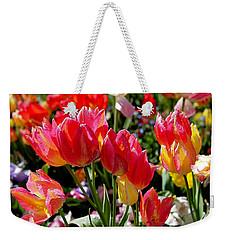 Tulip Garden Weekender Tote Bag by Rona Black