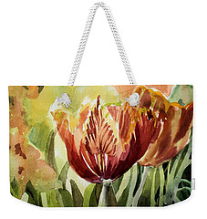 Tulip Light Weekender Tote Bag by Mindy Newman