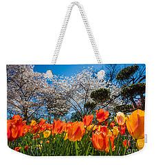 Tulip Panorama Weekender Tote Bag by Inge Johnsson