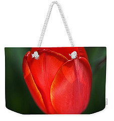 Tulip Red With A Hint Of Yellow Weekender Tote Bag