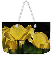 Weekender Tote Bag featuring the photograph Tulip Soiree by Michael Friedman
