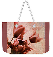 Weekender Tote Bag featuring the photograph Tulip Whimsy by Jessica Jenney