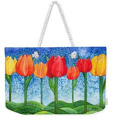 Tulip Trees Watercolor Weekender Tote Bag