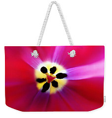 Tulip Vivid Floral Abstract Weekender Tote Bag by Menega Sabidussi