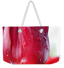 Tulip With Dew Weekender Tote Bag