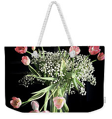 Tulips And Baby's Breath Weekender Tote Bag by Patricia E Sundik