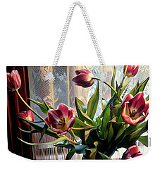 Tulips And Lace Weekender Tote Bag