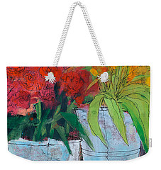 Tulips And Roses,flower Still Life Painting Weekender Tote Bag