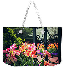 Tulips At The Garden Gate Weekender Tote Bag by Jessica Jenney