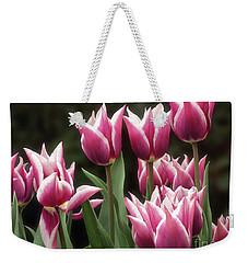 Tulips Bed  Weekender Tote Bag by Kim Tran