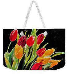 Tulips Colors Weekender Tote Bag by Khalid Saeed