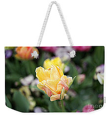 Weekender Tote Bag featuring the photograph Tulips by Diana Mary Sharpton