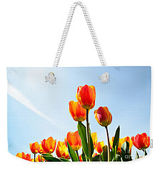 Tulips From A Low Point Of View Weekender Tote Bag by IPics Photography