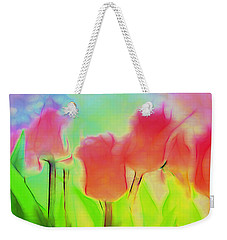 Tulips In Abstract 2 Weekender Tote Bag by Cathy Anderson