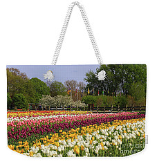 Tulips In Rows Weekender Tote Bag