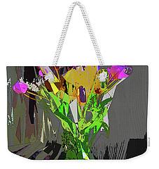 Tulips In Vase Cubed Weekender Tote Bag