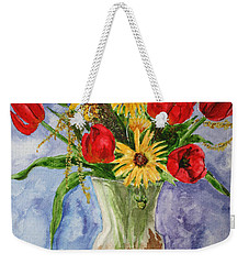 Tulips In Vase Weekender Tote Bag by Marna Edwards Flavell