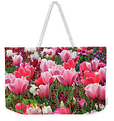Weekender Tote Bag featuring the photograph Tulips by James Eddy