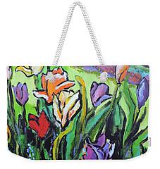 Tulips Weekender Tote Bag by Jodie Marie Anne Richardson Traugott          aka jm-ART