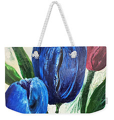 Tulips Large Oil Flowers Weekender Tote Bag