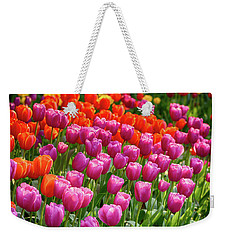 Weekender Tote Bag featuring the photograph Tulips Mean Spring by Mary Jo Allen