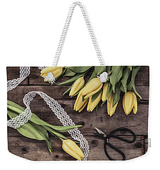 Weekender Tote Bag featuring the photograph Tulips Of Spring by Kim Hojnacki