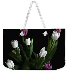 Weekender Tote Bag featuring the photograph Tulips by Rhonda McDougall
