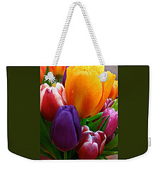 Weekender Tote Bag featuring the photograph Tulips Smiling by Marie Hicks