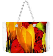 Tulips Throw Pillow Weekender Tote Bag by Gayle Price Thomas