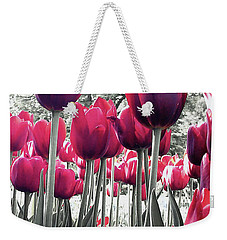 Weekender Tote Bag featuring the photograph Tulips Tinted by Melinda Blackman