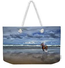 Tullan Strand - Horseriding In The Surf Weekender Tote Bag