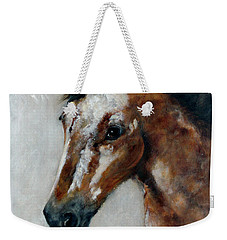 Weekender Tote Bag featuring the painting Tulsa by Barbie Batson