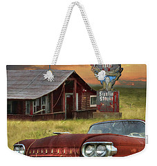 Weekender Tote Bag featuring the photograph Tumble Inn by Lori Deiter