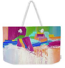 Weekender Tote Bag featuring the painting Tumbling Waters by Irene Hurdle