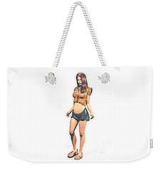 Tummy Girl Weekender Tote Bag