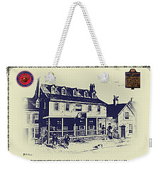 Tun Tavern - Birthplace Of The Marine Corps Weekender Tote Bag by Bill Cannon