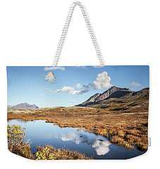 Tundra Pond Reflections In Fall Weekender Tote Bag