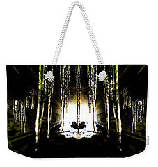 Tunnel Icicles Reflection Weekender Tote Bag