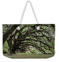 Weekender Tote Bag featuring the photograph Tunnel In Charleston by Jon Glaser