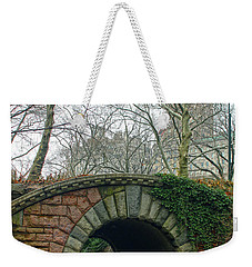 Weekender Tote Bag featuring the photograph Tunnel On Pathway by Sandy Moulder