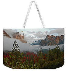 Weekender Tote Bag featuring the photograph Tunnel View 12 2016 by Walter Fahmy