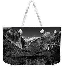 Tunnel View Black And White  Weekender Tote Bag
