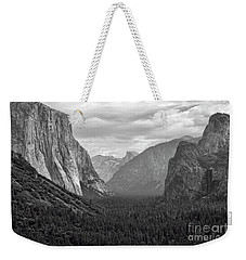 Tunnel View Bw Weekender Tote Bag