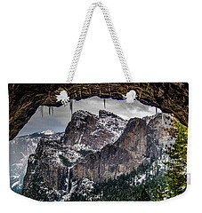 Weekender Tote Bag featuring the photograph Tunnel View From The Tunnel by Bill Gallagher