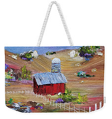 Weekender Tote Bag featuring the painting Tunkhannock Farm by Judith Rhue