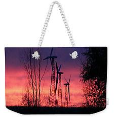 Turbines, Trees And Twilight Weekender Tote Bag by Kathy M Krause
