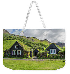 Turf Roof Houses And Shed, Skogar, Iceland Weekender Tote Bag